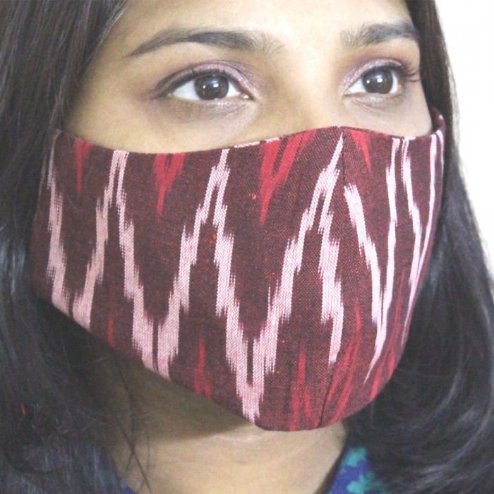 Simply Kitsch Handloom Ikat Mask - Pack of 2